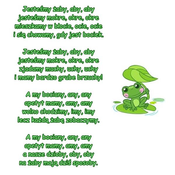 Piosenka Pt Jesteśmy żaby Aby Aby Muz I Sł A
