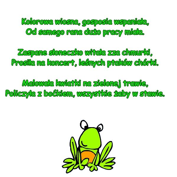 Wiersz Pt Pracowita Wiosna Autor M Witewska