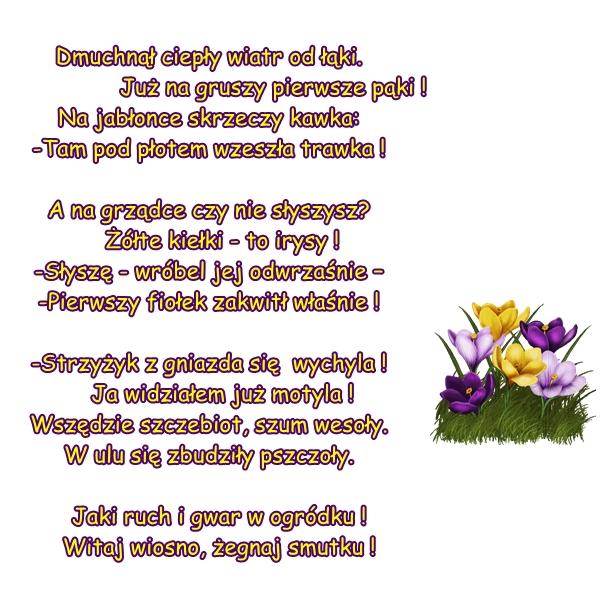 Wiersz Pt Znaki Wiosny Autor M Buczkówna