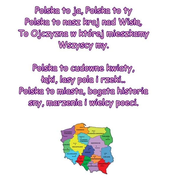 Wiersz Pt Polska Moja Ojczyzna Autor Nieznany