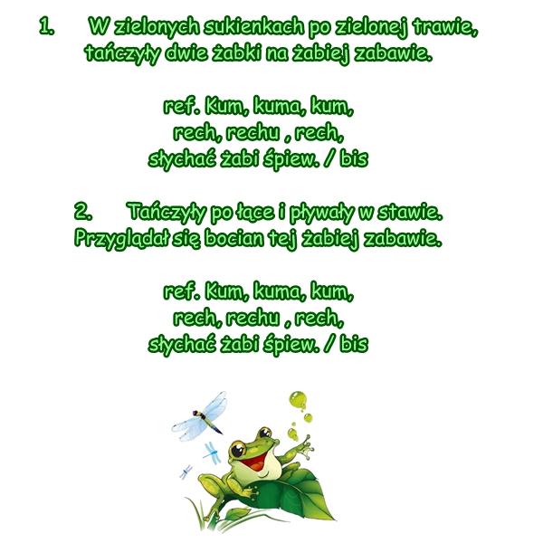 Piosenka Pt Wesołe żabki Sł I Muz Ai T Pabisiak