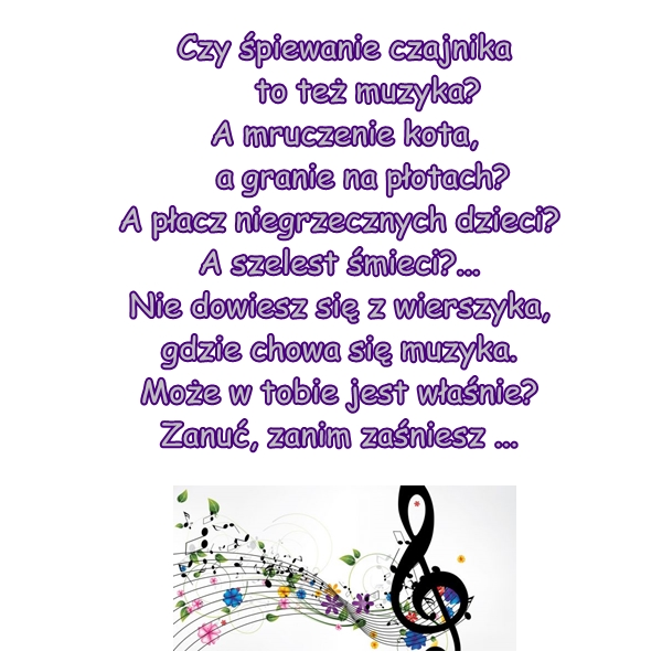 Wiersz Pt Muzyka Autor E żylińska