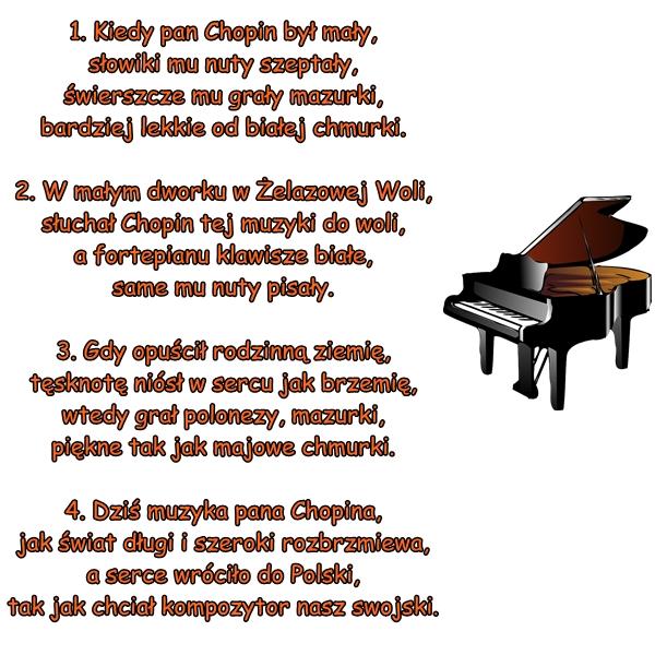 Wiersz Pt Wiersz O Fryderyku Chopinie Autor Nieznany