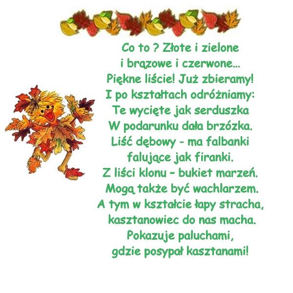 Wiersze O Jesieni Szkoła I Jesień W Wierszykach Czas