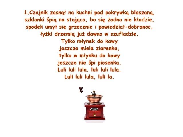 Piosenka Pt Kołysanka Kuchenna Muz Adam Markiewicz Sł