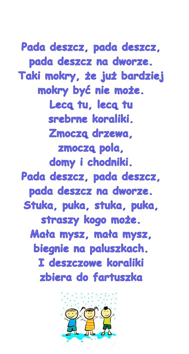 Piosenka Pt Pada Deszcz Autor Nieznany