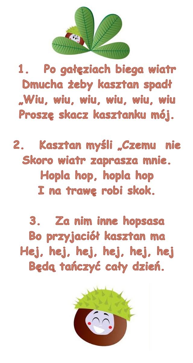 Piosenka Pt Wiatr I Kasztan Sł U Piotrowska Muz M