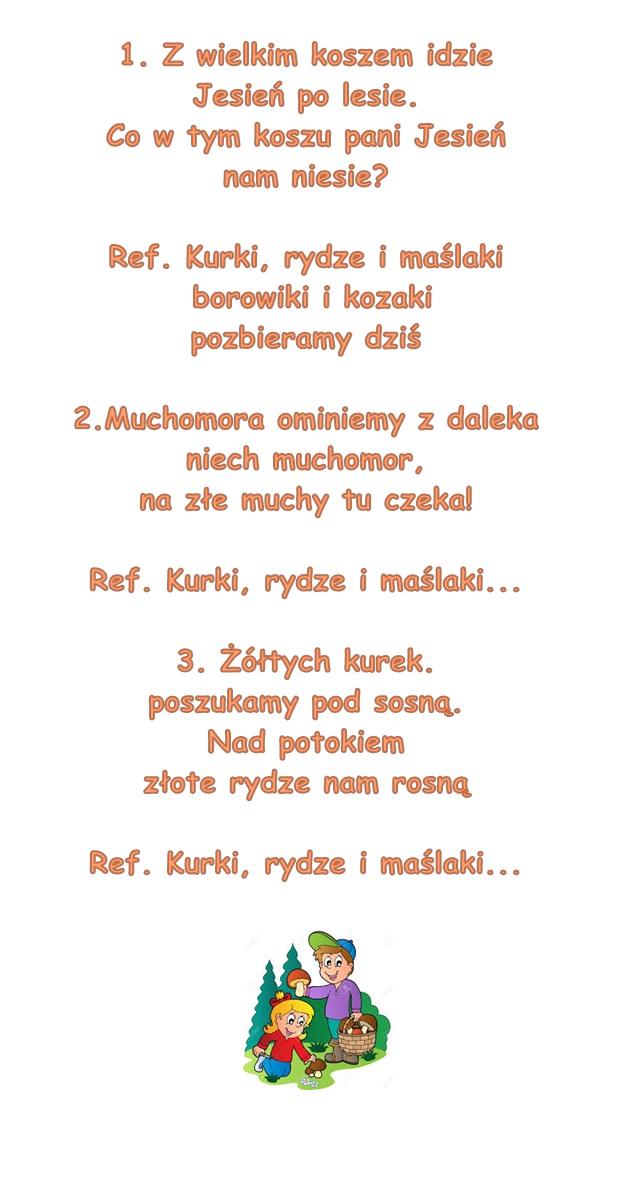 Piosenka Pt Zbieramy Grzyby Słowa Agnieszka Galica