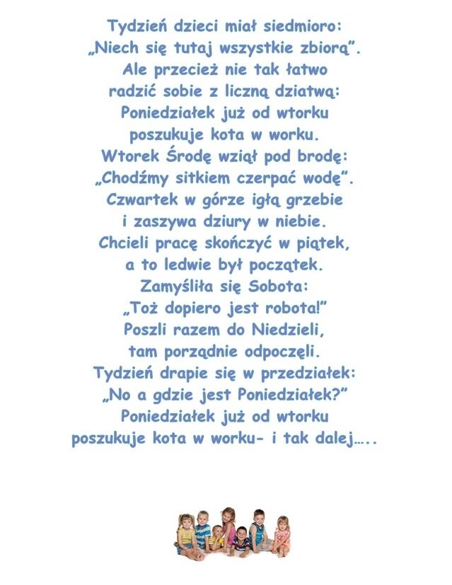 Wiersz Pt Tydzień J Brzechwa
