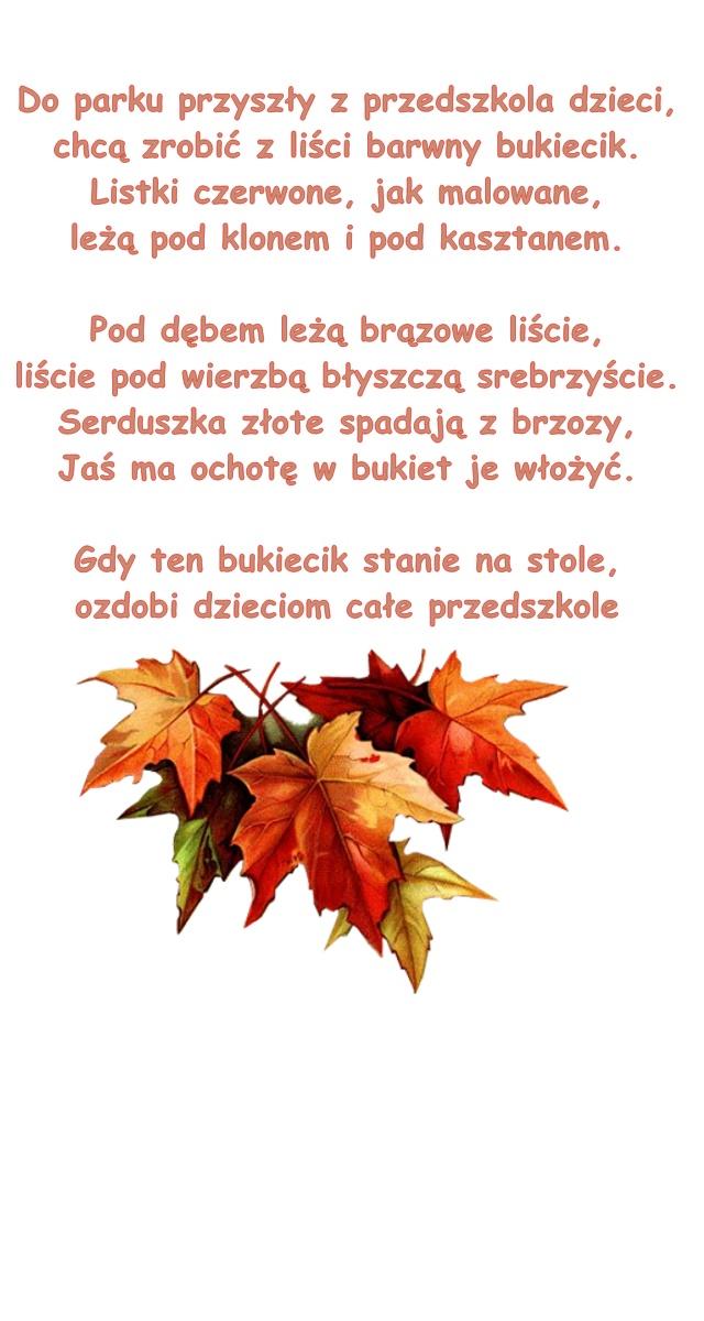 Wiersz Pt Kolorowy Bukiet B Lewandowska