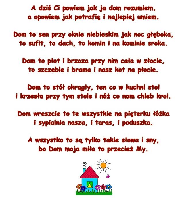 Wiersz Pt Dom Autor Nieznany