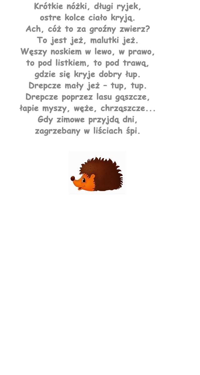 Wiersz Pt Jeż Hanna Zdzitowiecka