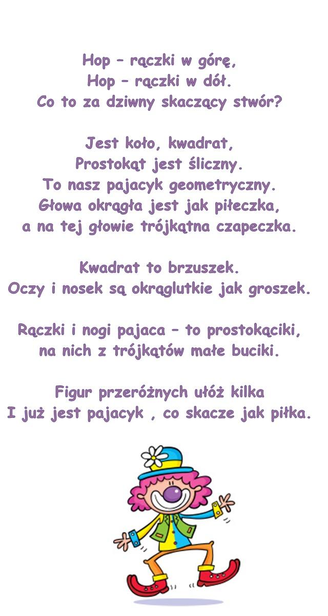 Wiersz Pt Pajacyk M Platy