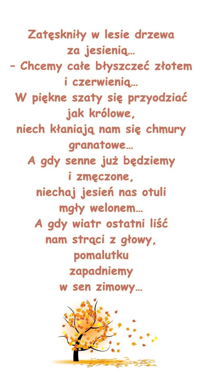 Wiersz Pt Drzewa Małgorzata Strzałkowska