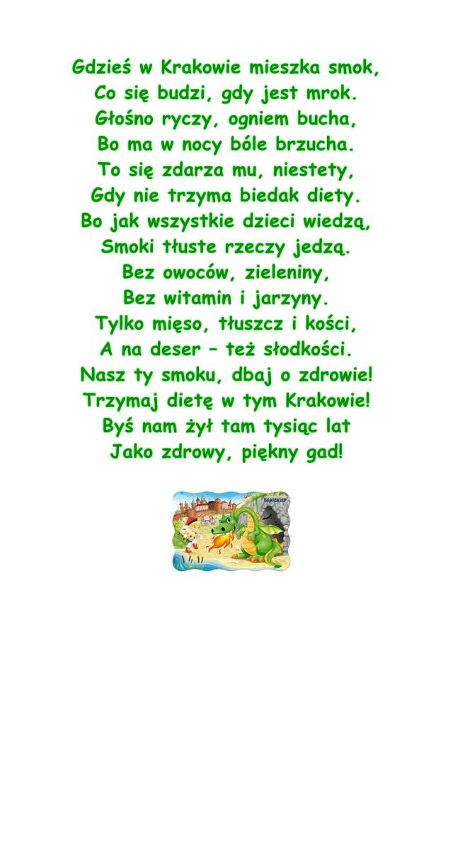 Wiersz Pt Smok Wawelski Autor Nieznany