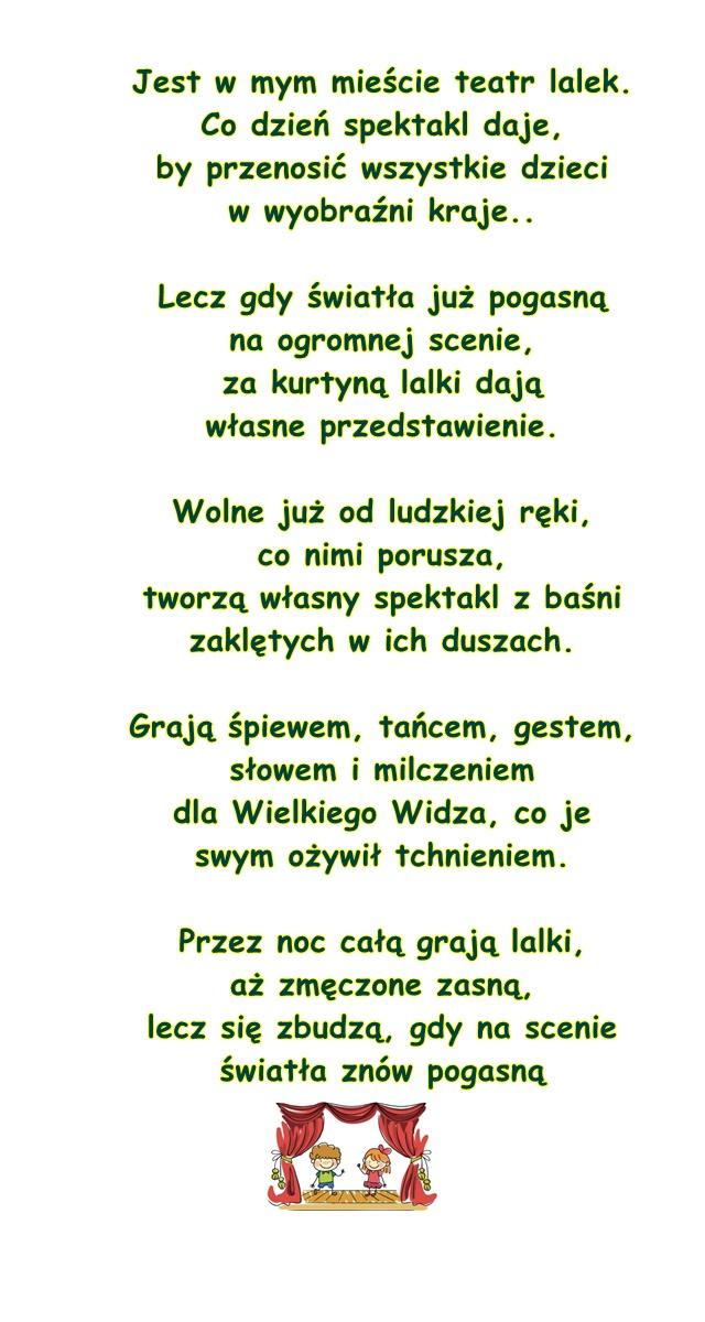 Wiersz Pt Teatr Lalek Kalina Beluch