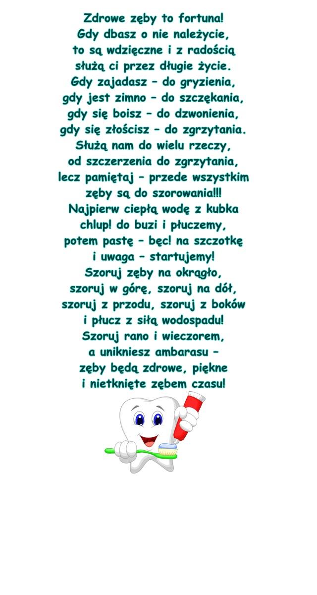 Wiersz Pt Zęby Małgorzata Strzałkowska