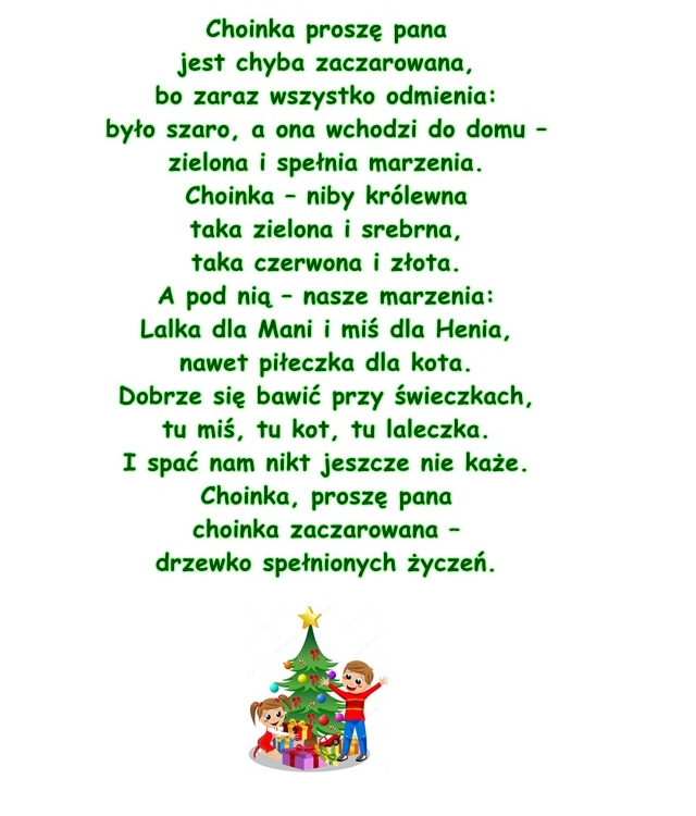 Wiersz Pt Zaczarowane Drzewko Maria Terlikowska