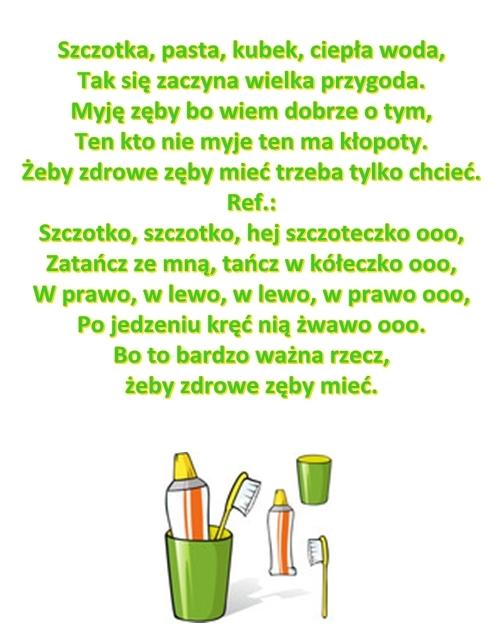 Piosenka Pt Szczotka Pastakubekciepła Woda Sł I Muz
