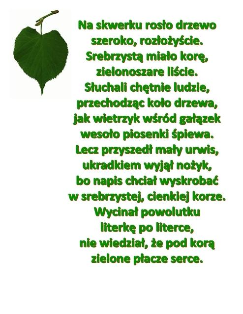 Wiersz Pt Zielone Serce Autor R Pisarski