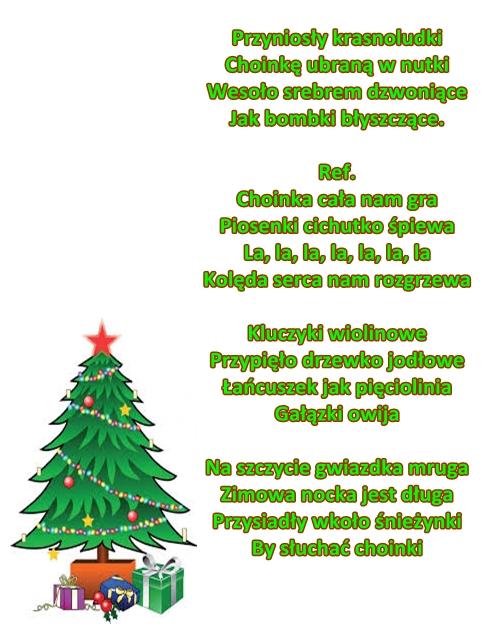 Piosenka Pt Grająca Choinka M Cenarska A Nowak