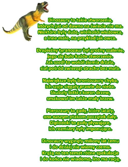 Wiersz Pt Dinozaury Autor A Wojtyła