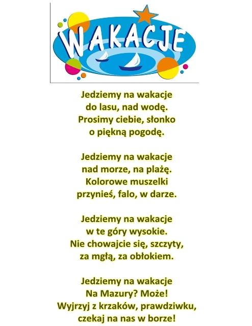 Wiersz Pt Wakacje Czjanczarski